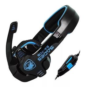 Sades Stereo Headphone Con Microfono - 3.5 Mm