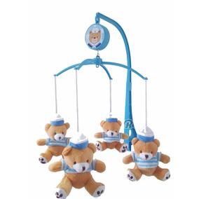 Móbile Musical Giratório Urso Berço Zoo Ursinho Marinheiro