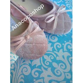 Flats Zapatillas Toreritas Bailarinas Terciopelo