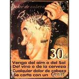 Cartel De Chapa Vintage Publicidad Antigua Geniol L670