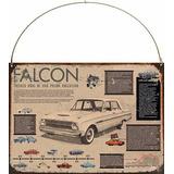Cartel Chapa Publicidad Antigua Auto Ford Falcon X240