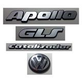 Kit Emblema Volkswagen Apollo Gls Vw Mala Catalisador 91/97
