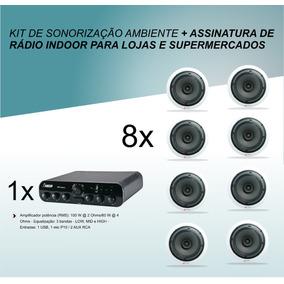 Kit De Sonorização + Assinatura Rádio Interna 129,00 Mensal