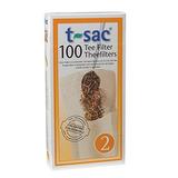 T-sac Tea Filter Bags, Disposable Tea Infuser, Number 2-size
