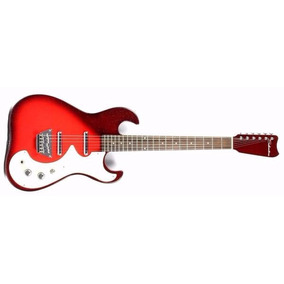 Guitarra Electrica Silvertone 1449 Red Silver Flake Burst