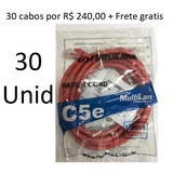Patch Cord U/utp Multilan Cat.5e 2.5m Vermelho (cx C/ 30und)