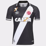 Camisa Vasco Da Gama Umbro 2017 Preta Nova Original Jogo