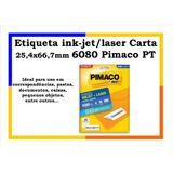 Etiqueta Adesiva Inkjet E Laser Carta 25,4x66,7mm 6080