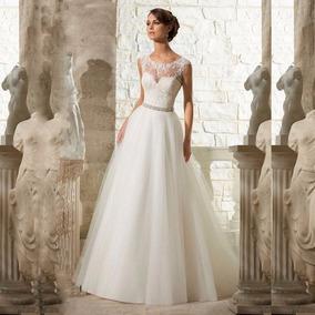 Vestido Noiva Lantejoulas Princesa Tamanho 42