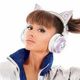 Audífonos Orejas De Gato Edición Ariana Grande Cat Headphone