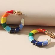 Argola Ane - Colorida Rainbow