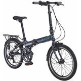 Bicicleta Dobravel Durban Bay Pro Aro 20 7v Aluminio Grafite
