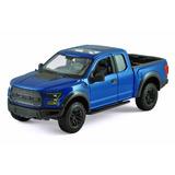 Miniatura Ford F150 Raptor 2017 1:24 Maisto Azul