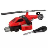 Helicóptero Candide Garagem Sa Pequeno Engenheiro - Vermelho