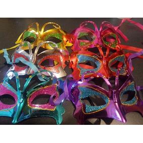 20 Antifaces Mariposa Plastico Boda Batucada Carnaval Mod 2