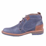 Zapato Bota Para Hombre Azul Original 100% Nacional Garantiz