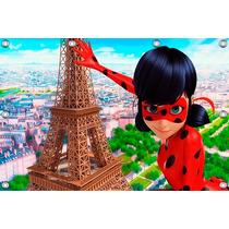 Painel Ladybug - 2,00 X 1,02m, Minions, Frozen, Miraculous