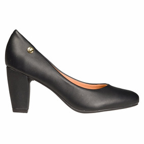 Zapato Clasico Mujer Vizzano Sintetico Negro