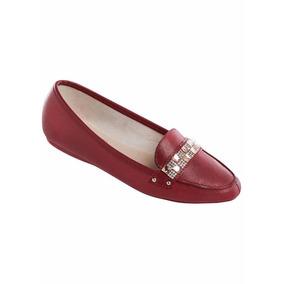 65e61527da Sapatilha Sua Cia Detalhe Babado Strass Vermelha - Calçados