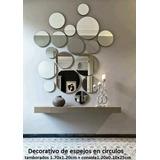 Decorativo De Espejos En Círculos + Consola