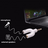 3,5 Mm Estéreo Divisor Audio Mic, Notebook , Moviles