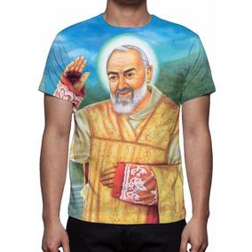 Camiseta Santo Padre Pio - Frete Grátis