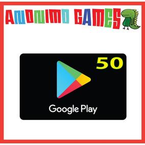 Google Play Tarjeta Prepaga Valor 50 Usd / Usa