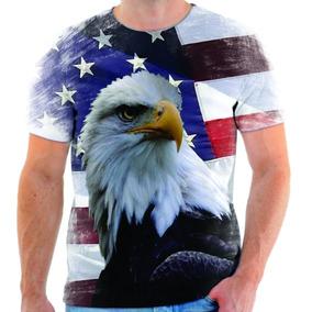 Camiseta Camisa Blusa Águia Azul Estados Unidos Simbolo 06