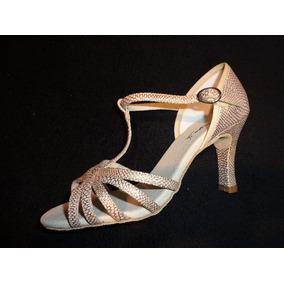 777b61cbd Sandalias Para Dança De Salão - Sandálias para Feminino Dourado no ...