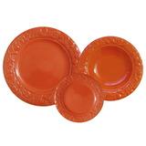 Set X18 Platos Playo Hondo Postre Naranja Ancers Envio Grati