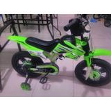 Bicicleta Infantil Chicos Tipo Moto Cross Rodado 12