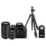 Kit De Cámara Nikon D3400 + Lente + Control Remoto + Tripié
