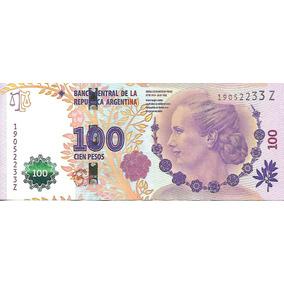 Nuevo Billete Evita $100 Serie Z Excelente Palermo