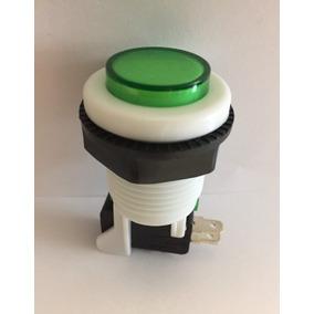 Botón Verde Para Maquinita O Rockola