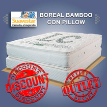Outlet Colchon Y Sommier Suavestar Bamboo Con Pillow 190x140