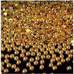 Meia Perolas Dourada Pacote Com 100 Unidades 1,5 Mm