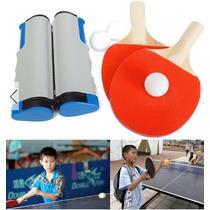 Ping Pong Red Portatil Pelotas Y Raquetas