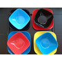 Plato Cuadrado Plastico Hondo Vajilla China Gourmet Vaso