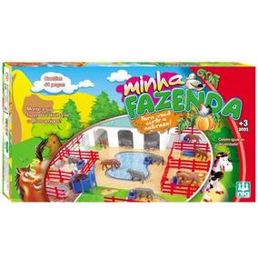 Brinquedo Minha Fazenda 41 Peças Animais Celeiro Cercas 0230