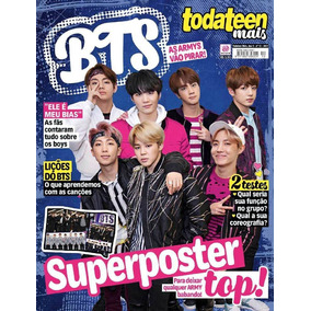 Revista Pôster Bts = K-pop C/ Poster Gigante 82x 51cm Kpop!