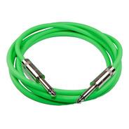 Cable Plug Plug Instrumento 2m Verde Fluo Rean Neutrik Hamc