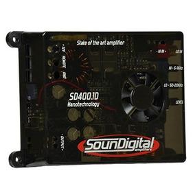 Potencia Amplificador Soundigital Sd400.1d (1 Ohm) 400 Wrms