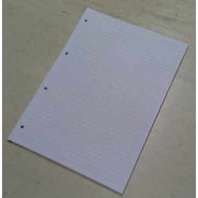 Refil De Fichário Miolo Folhas A4 90g Branco Pautado 100f