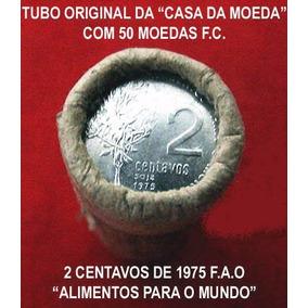 Tubo Original De Moedas F.c. Alimentos Para O Mundo F.a.o.
