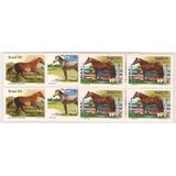 Cavalos De Raça Do Brasil-1985- Serie Em Quadras Novas Com G