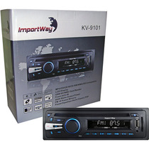 Rádio Mp3 Toca Cd Carro Cd Am Fm Usb Auxiliar P2 Importway