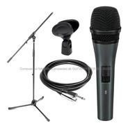 Microfono Profesional Sn58 Modelo Sm58 +pie Cable Pipeta