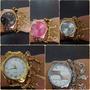 Kit 10 Relógios Baratos Feminino Com Pulseira +caixa Atacado