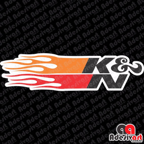 Adesivo K&n Flame Fogo Modelo Novo Carro Moto Racing Turbo