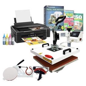 Kit Sublimação Prensa Térmica 4x1 + Impressora Sublimática